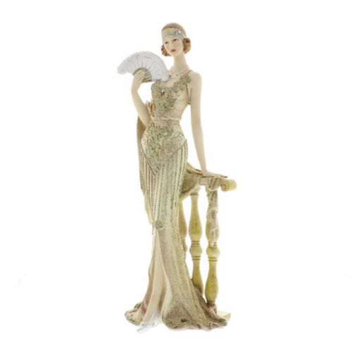 Juliana Broadway Belles Cream Gold Lady Figurine Art Deco 1920s 'Octavia'58429